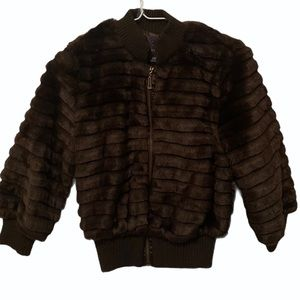 Brown Furry Jacket - New